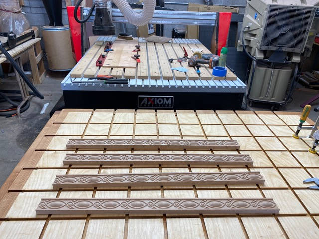 CNC Machined Wooden Trim for Entry Door