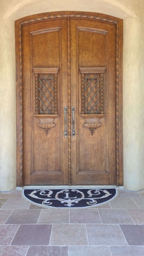 Wood Front Door Before Refinishing