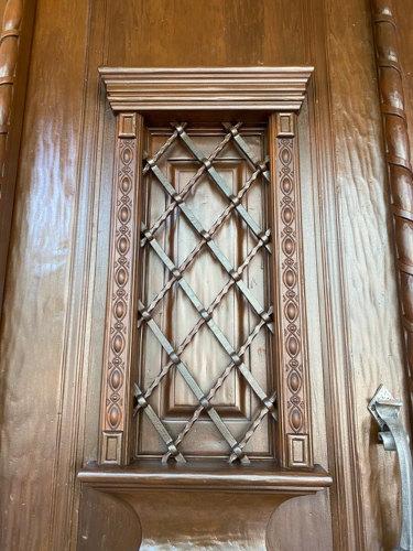 New CNC Wooden Trim on Entry Door